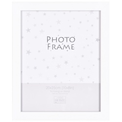 Bílý MDF fotorámeček 20x25cm BIANCA