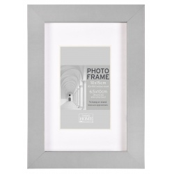 MDF fotorámeček 10x15cm BLOCK FRAME šedý