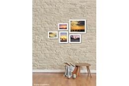 Set bílých fotorámečků koláž na zeď BIANCA