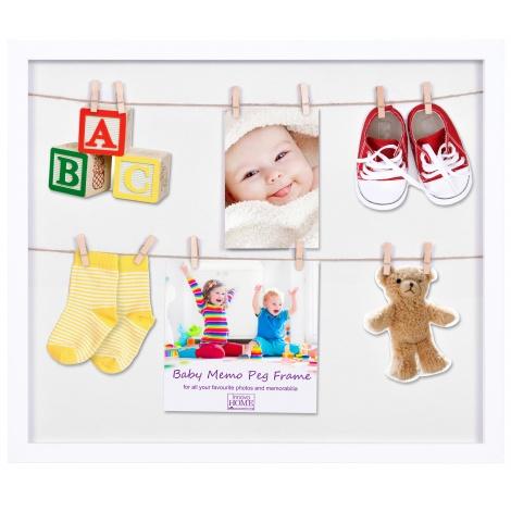 Dětský fotorámeček na více fotek s kolíčky Baby PEG