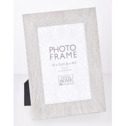 Stříbrný kovový fotorámeček 10x15 Ophelia