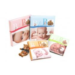 Dětské zastrkávací fotoalbum 10x15/200 foto BABY VITAL růžové