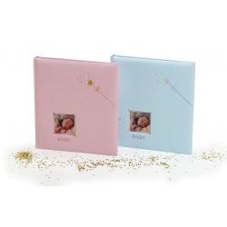 Dětské fotoalbum na růžky BABY STAR´s modré