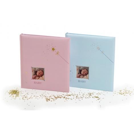 Dětské fotoalbum na růžky BABY STAR´s růžové