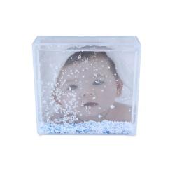 Čtvercové sněžítko BABY BLUE 10x10cm