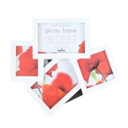 Bílý fotorrámeček na více foto MAGGIORE VIII, galerie na 4 fotografie