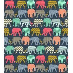 Dětské fotoalbum 13x18/140 ELEPHANTS NAVY