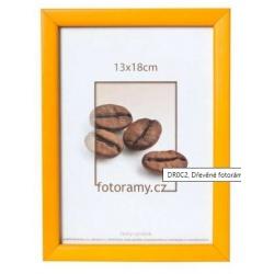 Dřevěný fotorámeček DR0C2 13x18 žlutý