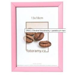 Dřevěný fotorámeček DR0C2 20x30 růžový