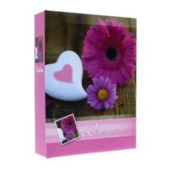 Fotoalbum 9x13/100 FLOWERS růžové
