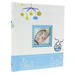 Dětské samolepící fotoalbum 23x28/40s BIRTH modré