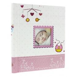 Dětské samolepící fotoalbum 23x28/40s BIRTH růžové