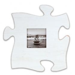 Fotorámeček 10x10 Puzzle bílý
