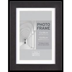 MDF fotorámeček 10x15cm BLOCK FRAME černý