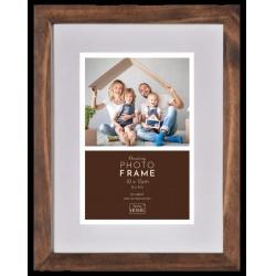 Luxusní dřevěný fotorámeček Floating Frame 10x15 Hazel Brown