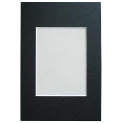 Pasparta 15x20 s výřezem 10x15 černá