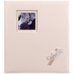 Svatební fotoalbum na růžky WEDDING  KISS  29x32/60s. béžové