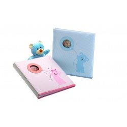 Dětské fotoalbum na růžky 29x32/60s. BABY BEAR´s BALLOON modré