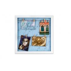 Fotorámeček na 6 fotek 10x15 s kolíčky Gitter blue