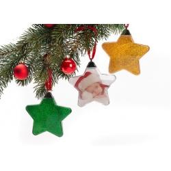 Vánoční ozdoba ve tvaru hvězdy zlaté