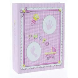Dětské fotoalbum 10x15/100 BABY-3 růžové