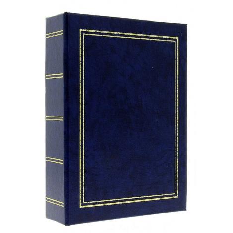Jendnobarevné fotoalbum 10x15/200 foto modré s popisem