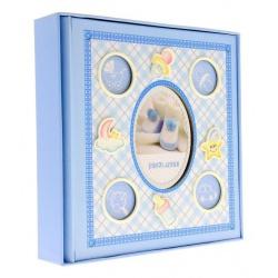 Dětské fotoalbum 10x15/200 foto s popisem modré