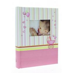 Dětské fotoalbum 10x15/100-2 foto s popisem BABYCHART růžové
