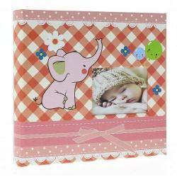 Dětské fotoalbum 10x15/200 BABY4G s popisem růžové