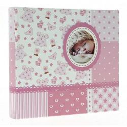 Dětské fotoalbum 10x15/200 BABY6G s popisem růžové