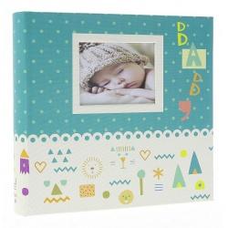 Dětské fotoalbum 10x15/200 BABY7G s popisem modré