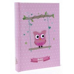 Dětské fotoalbum 10x15/100 BIRD růžové