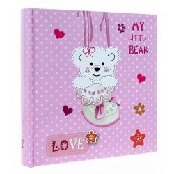 Dětské fotoalbum 10x15/200 foto s pop TEDDYBEAR růžové