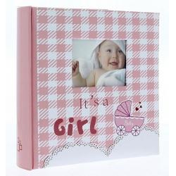 Dětské fotoalbum 10x15/200 foto popis NINO růžové