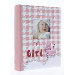 Dětské fotoalbum 10x15/300 foto popis NINO růžové