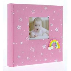 Dětské fotoalbum 10x15/200 foto popis RAINBOW růžové