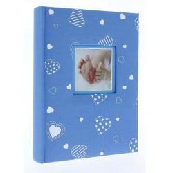 Dětské fotoalbum 10x15/200 foto popis BABYHEART Modré vysoké