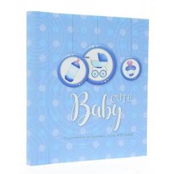 Dětské samolepící fotoalbum 22x28/60s. BABY-3 modré