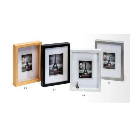 Hluboký dřevěný fotorámeček XXL A3 stříbrný