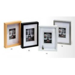 Hluboký dřevěný fotorámeček XXL A4 bílý