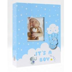 Dětské fotoalbum 10x15/200 foto ELEPHANT Modré