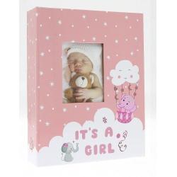 Dětské fotoalbum 10x15/200 foto ELEPHANT růžové