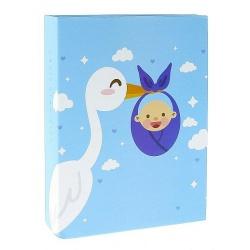 Dětské fotoalbum 10x15/100 CUTE BABY modrý čáp