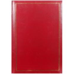Jednobarevné fotoalbum 10x15/200 TRADITION červené