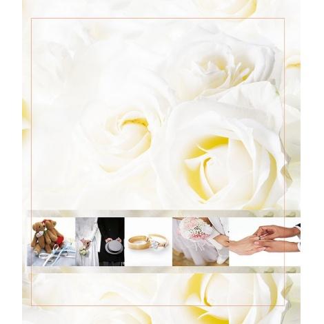 Svatební fotoalbum 13x18/100 foto WEDDING bílé růže