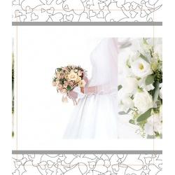 Svatební fotoalbum 13x18/100 foto WEDDING nevěsta s kytkou