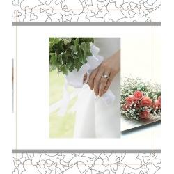 Svatební fotoalbum 13x18/100 foto WEDDING ruce s kytkou