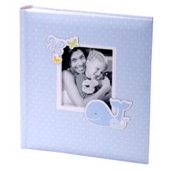 Exkluzivní dětské fotoalbum 10x15/200 foto HONEY modré