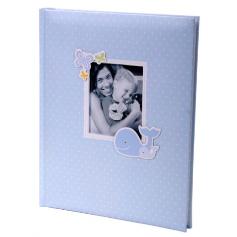 Exkluzivní dětské samolepící fotoalbum 24x29/40s HONEY modré