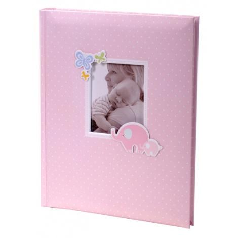 Exkluzivní dětské samolepící fotoalbum 24x29/40s HONEY růžové